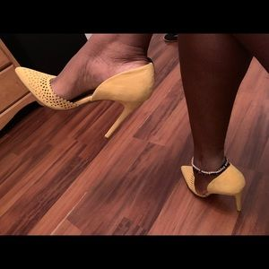 JustFab Yellow stiletto heels